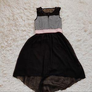 Speechless • black stripped dress • 8
